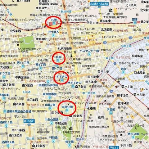 大通駅周辺