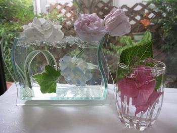 透明ゼリーの花