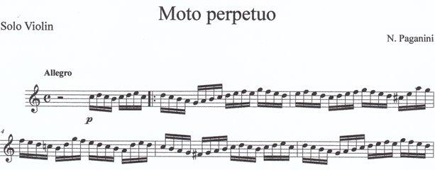 パガニーニ 常動曲 無窮動 Moto Perpetuo