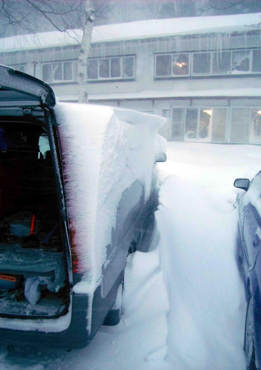 風雪の寒い朝(1)