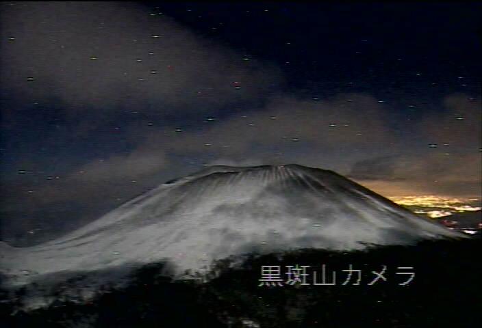 黒斑山から浅間山 20130220 22:38