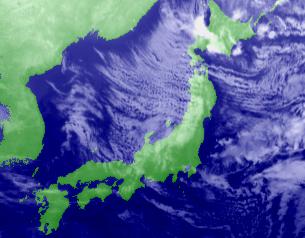 赤外衛星画像 21日00時
