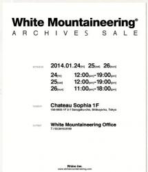 ホワイトマウンテニアリング アーカイブセール