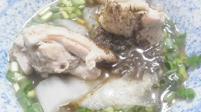 鶏と白菜の水炊き+黒胡椒