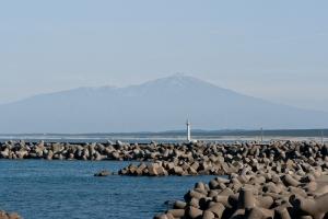 加茂漁港からの眺め