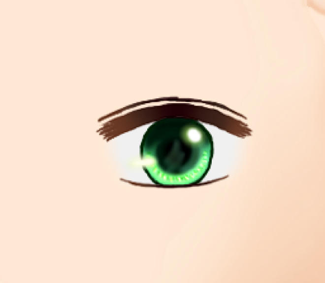 目の線色 ぼかし