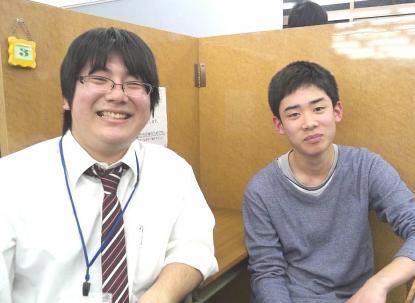 藤沼先生、岡本くん
