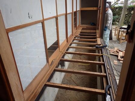 縁側廊下解体