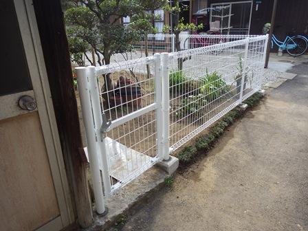 フェンス工事完了 (1)