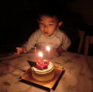 3歳のケーキ