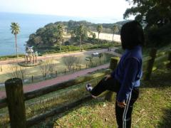 奏子と大村湾