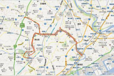 20130315_鶴見川30K_map