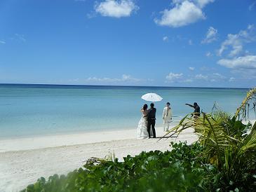 120511 グアム ビーチ3 結婚式