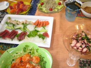 M家と新年会 料理