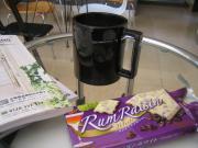 ラムレーズンチョコ でお茶