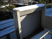 2013 雪 翌日 車庫