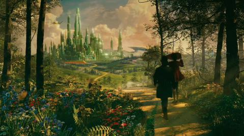 シンデレラ城がエメラルド・シティに変貌した「オズ」の予告編