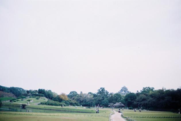後楽園・岡山城遠望