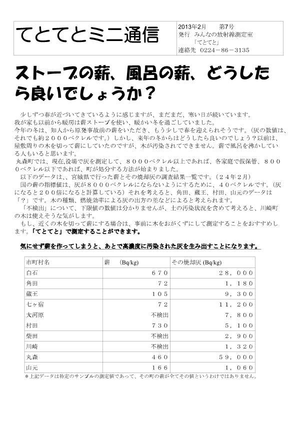 ミニ通信2013-2-1
