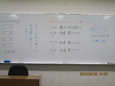 2013.2.22 交流会 タイムテーブル