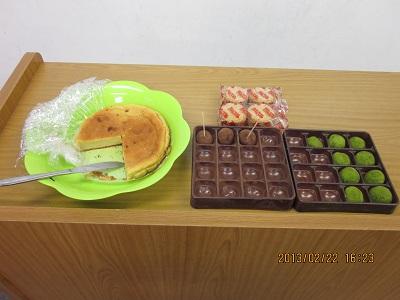 2013.2.22 交流会 お菓子