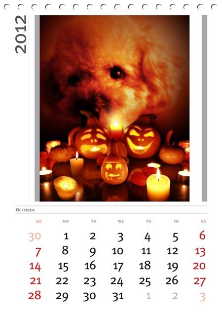 10101010そら10月カレンダー