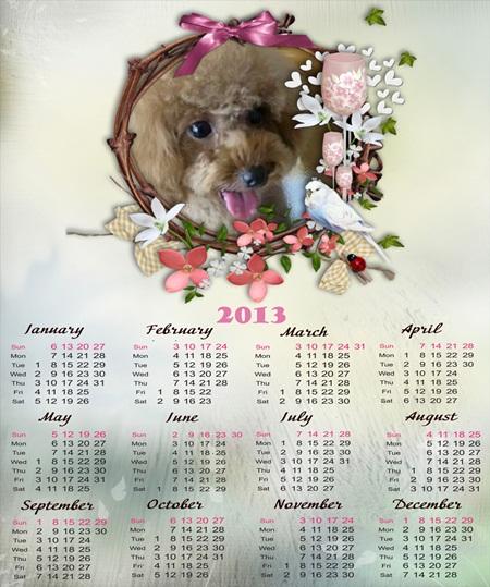 20121224 7Rubyちゃんカレンダー