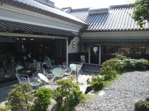 祇園の横道のお洒落なカフェ
