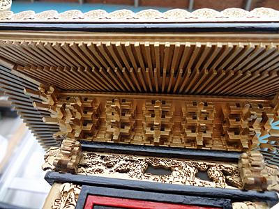 相州神輿模型 垂木
