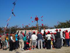 北津島運動会2012;玉入れ(赤)
