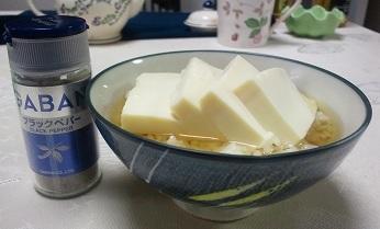 塩麹豆腐茶漬け(6/13)