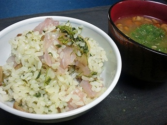 香の物寿司と味噌汁