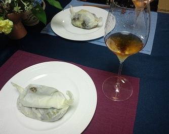 茸紙包み焼き準備2012