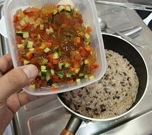 サラダ足しちゃった雑炊