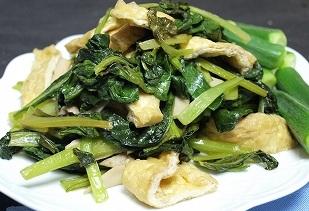 付け合せ小松菜オクラ揚げ2012
