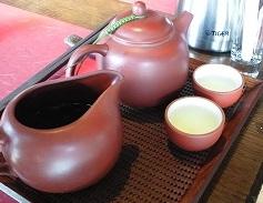 三希堂で台湾茶