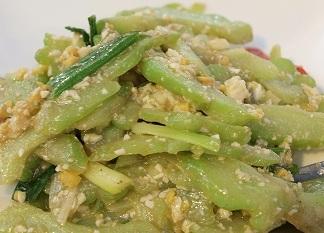 客家料理塩漬け卵炒め2013025
