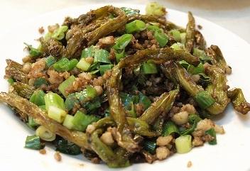 知らない漢字野菜の炒め物2013217