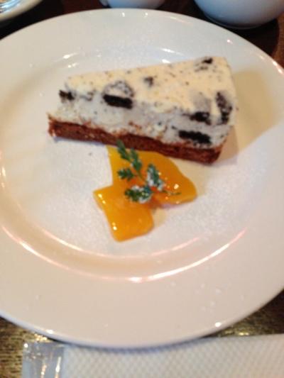 クランチチョコレートのチーズケーキ