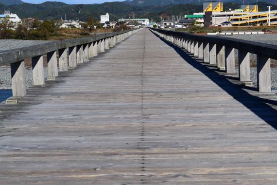 静岡県島田市 蓬莱橋 その2