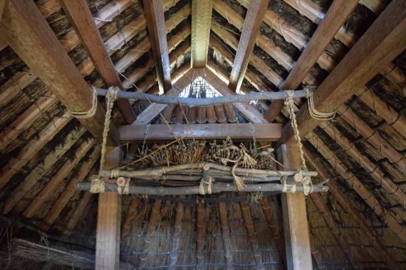 登呂遺跡 竪穴式住居 内部1