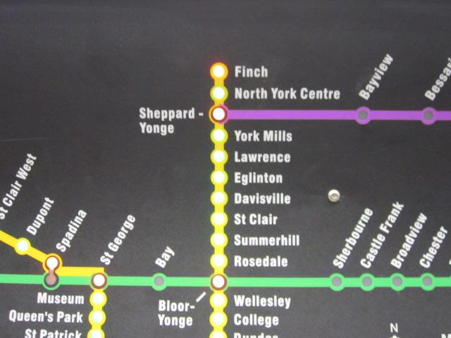 トロントTTC路線図