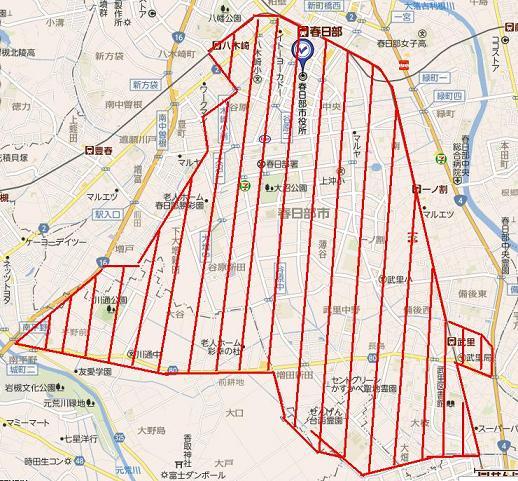 春日部市地図