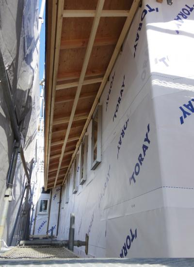 外壁工事 シート貼