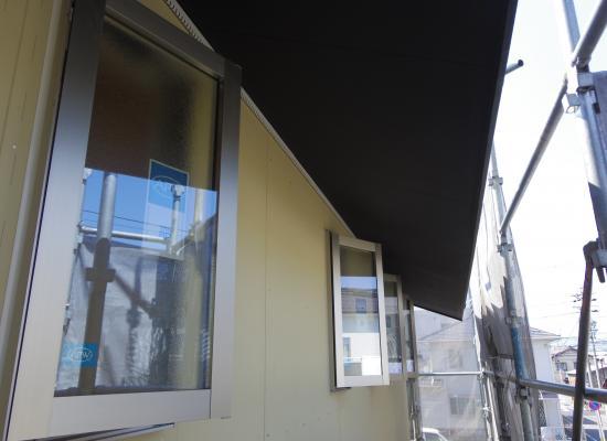 外壁ボード施工2