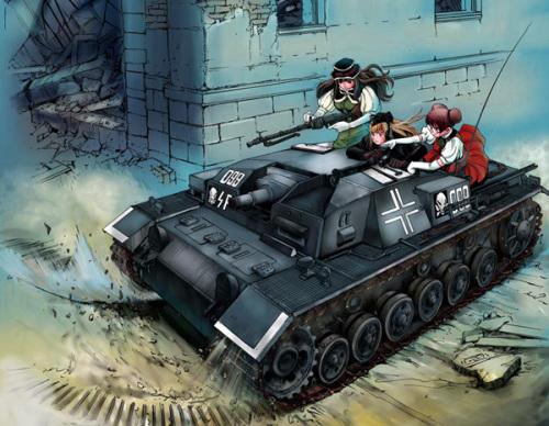 かたやままこと作、戦車バトル漫画「シェイファー・ハウンド」
