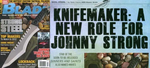 ジョニー・ストロング製作のカスタムナイフ2