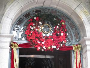 長楽館(京都)のクリスマスリース