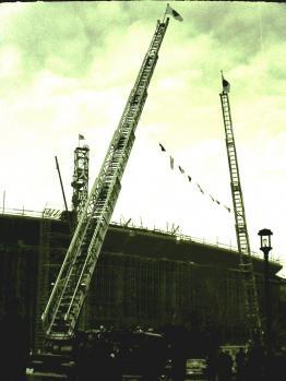 工事中の国立競技場