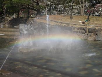 府中の森 噴水の虹